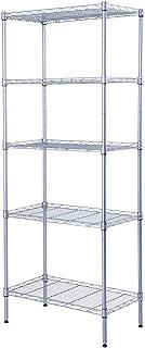 SINGAYE Storage Rack 5-Tier Mesh Shelving Unit Storage Shelves Metal for Pantry Closet Kitchen Laundry 23.6