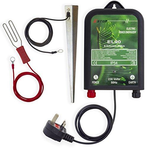 X-Stop - EL50 - Energizador de valla eléctrica, 0,5 J, CE, RoHS, rango 10 km, 230v, AC