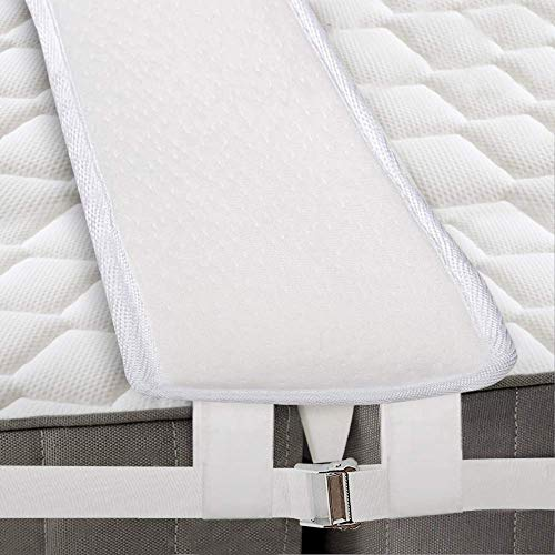 SAYGOGO Bed Bridge Twin to King Converter Kit Thicken Memory Bed Gap Filler Adjustable Bed Bridge Mattress Connector with Strap for Bed, Storage Bag Included, for Guests Stayovers(New Version