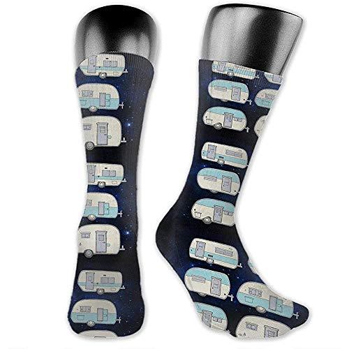 Warm-Breeze Chaussettes de compression pour hommes Ca_mper Doodles RV Van Chaussettes de compression de sport pour femmes