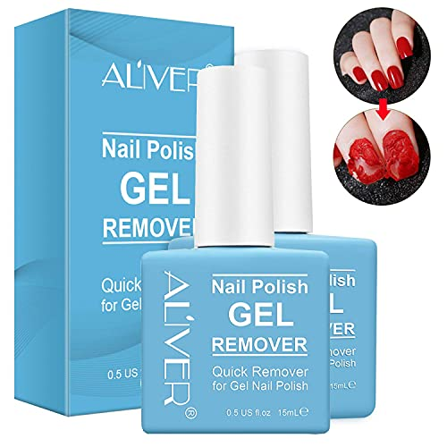 Gel Nail Polish Remover -2 Pack- Professional Nail Polish Remover, Easily Quickly Take Effect in 3-5 Minutes,Professional Protect Nails,0.5 Fl Oz