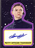 2017 Topps Star Wars: Journey to the Last Jedi Trading Cards Autograph Thomas Brodie-Sangster as Petty Officer Thanisson