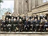 Poster 90 x 70 cm: Fünfte Solvay-Konferenz, 1927