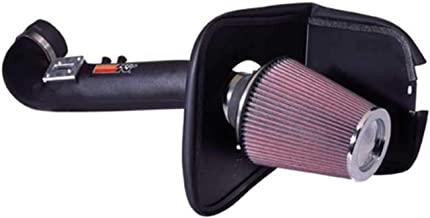 K&N Cold Air Intake Kit with Washable Air Filter: 2008-2015 Nissan/Infiniti (Armada, Titan, QX56) 5.6L V8 Black HDPE Tube with Red Oiled Filter, 63-6012