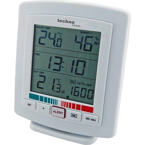 Technoline TEMPERATURSTATION Hygrometer CO2 LUFTGÜTE MESSGERÄT WL 2000