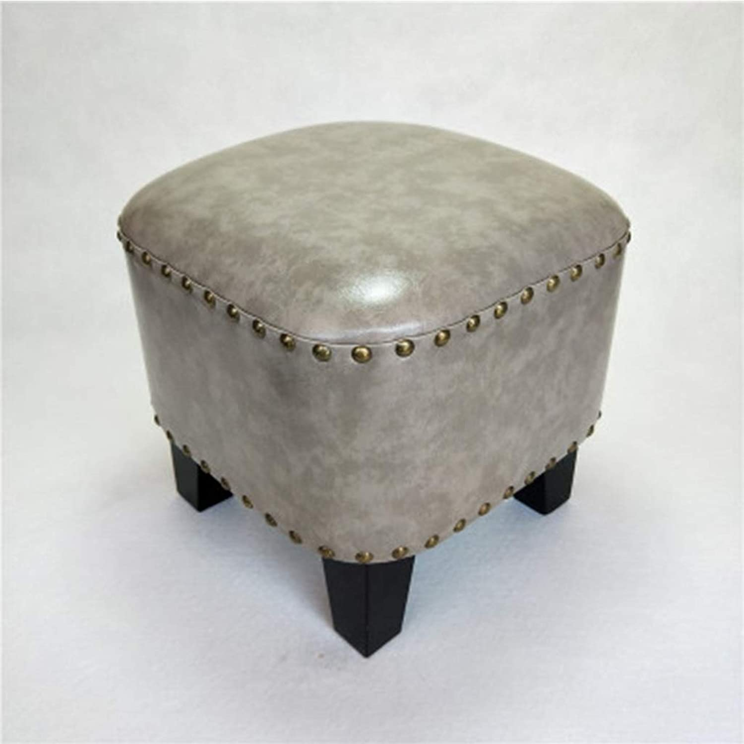 ZHBWJSH Low Stool Fashion Creative American Sofa Leather Pier shoes Bench Home Small Stool Living Room shoes Bench Seat (color   D)