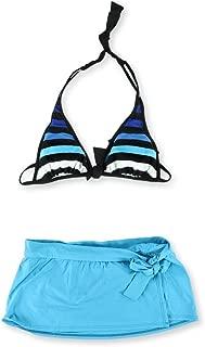 Womens Striped Skirtini 2 Piece Bikini