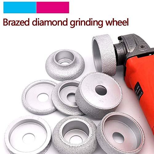 Sale!! Xucus 1pcs Brazed Diamond Angle Grinder Stone Grinding Wheel Semi-circular/Straight Edge/Roun...
