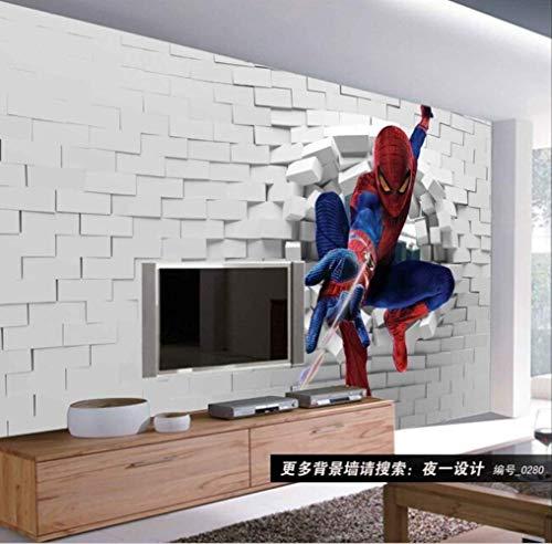 Spiderman Personnalisé Pour Chambre D'enfants Salon Fond Mur Vinyle Qui Avengers Salon Meuble Tv