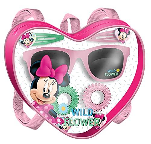 HOVUK Minnie Mouse - Bolsa de accesorios para el cabello y gafas de sol, 6 piezas accesorios para el cabello con clips, bobbles para niñas de 3 años más