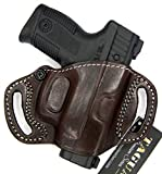 HOLSTERMART USA TAGUA Premium Deluxe Brown Leather Right Hand Open Top Quick Draw Belt Holster for Taurus Millennium G2 G2S G2C