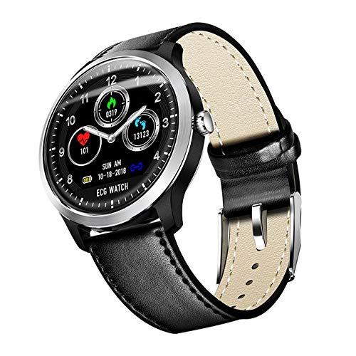 N58 Smartwatch ECG PPG Herzfrequenz-Überwachung Übung Scorer Fitness Armband Herren und Damen Uhren China Schwarzes Leder