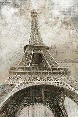 AFDRUKKEN-op-GEROLDE-CANVAS-Ansichtkaarten-naar-Parijs-Allen-Kimberly-Europese-Afbeelding-gedruckt-op-canvas-100%-katoen-Opgerolde-canvas-print-Kunstdruk-o-Afmeting-121_X_81_cm