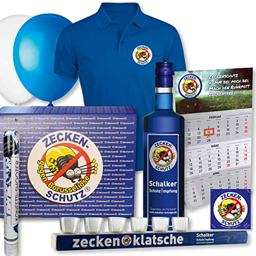 Zeckenschutz gegen Borusseliose Schalke-Schnaps Geschenkbox Kampfbahn (XXL)