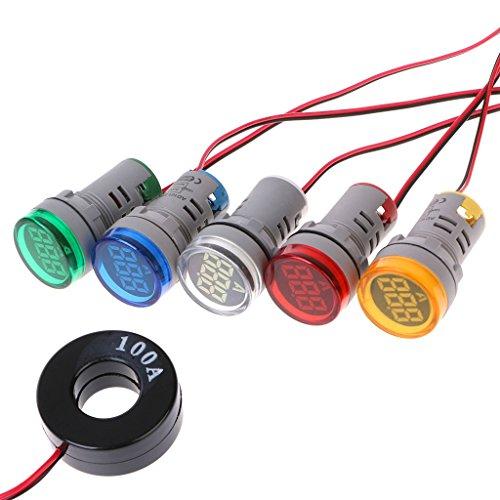 AC220V 22mm Digital Amperometro 0–100A monitor di corrente Amperometro segnaletico