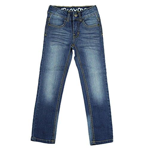 Minymo Minymo Jungen coole Jeanshose mit slim fit und washed Denim look, Blau (Denim 777),92 (Herstellergröße:92)