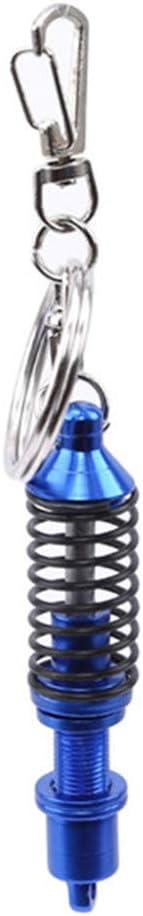 Underleaf Turbine Damper Keychain Für Männer Auto Tuning Teile Stoßdämpfer Metall Schlüsselanhänger Auto Zubehör Auto Ornamente Schlüsselanhänger Rot Auto