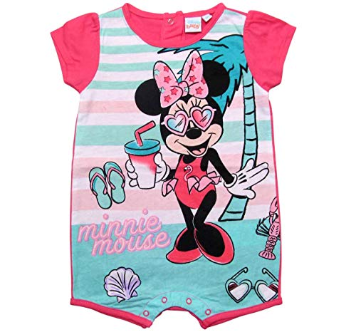 Minnie Mouse Kollektion 2018 Strampelanzug 62 68 74 80 86 92 Strampler Kurz Einteiler Maus Disney Fuchsia (Fuchsia, 74)
