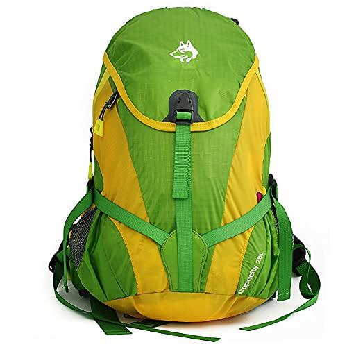 AOKUO Zaino da Escursionismo all'aperto, Ciclismo, Alpinismo, Zaino da Campeggio, Zaino Portatile per Uomini e Donne Traspirante, Resistente e (Color : Green)