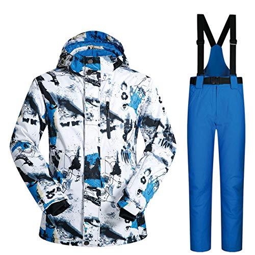 SDCVRE Combinaison de Ski Nouvelle Combinaison de Ski en Plein air pour Hommes Coupe-Vent imperméable à l'eau Thermique Snowboard Set Snow Homme Vestes De Ski Marques Et Pantalons Skiwear, B
