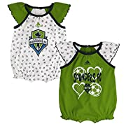 100% cotton Ruffles on sleeves; Rib-knit hems Screen printed graphics Tagless Collar Officially licensed by the MLS