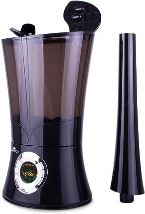 Air Innovations 1.6 Gal。 Cool Mist Top 填充数字超声波加湿器 铂金色 HUMID26-PLAT