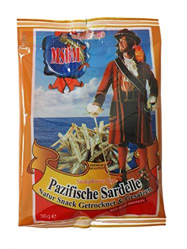 Pazifische Sardelle Natur Snack Getrocknet Gesalzen (5x36 g)