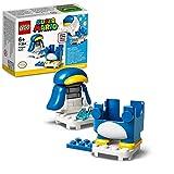 lego super mario mario pinguino - power up pack, espansione, costume scivolante, giocattolo, 71384
