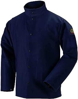 "Black Stallion FN9-30C 30"" 9oz. Navy FR Cotton Welding Jacket, Large (Medium)"