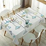 sans_marque Mantel de mesa, puede limpiar el mantel de mesa, limpiar la cubierta protectora impermeable de la mesa, se utiliza para la cocina picnic al aire libre interior de 90 cm