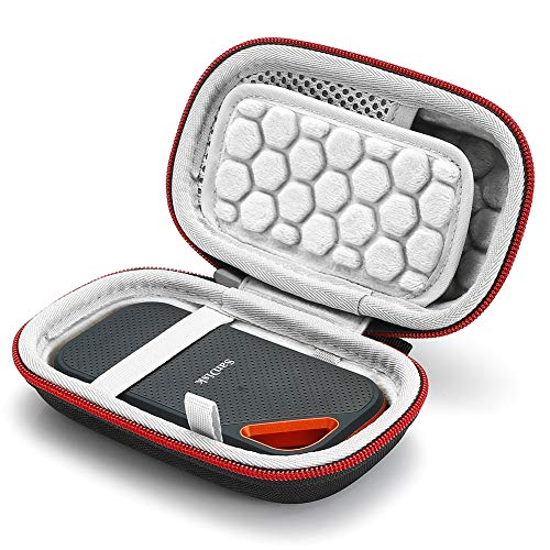 Hard Case für SanDisk Extreme PRO 1 TB / 2 TB / 250 GB / 500 GB Extreme Tragbare SSD, Tragetasche - Schwarz (graues Futter) (nur Etui)