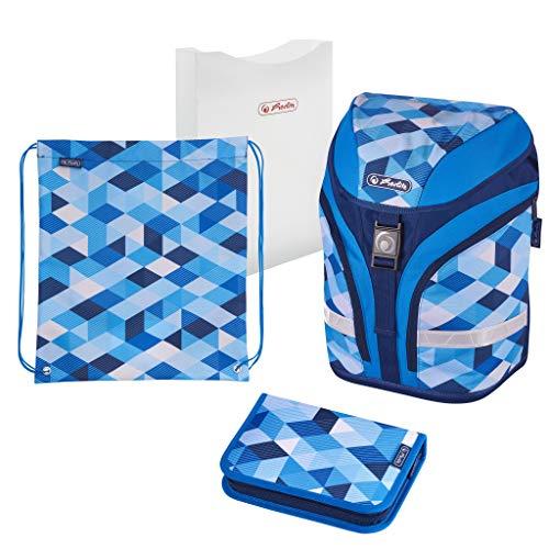 herlitz 50020393 Schulranzen Motion Plus Blue Cubes, 1 Stück