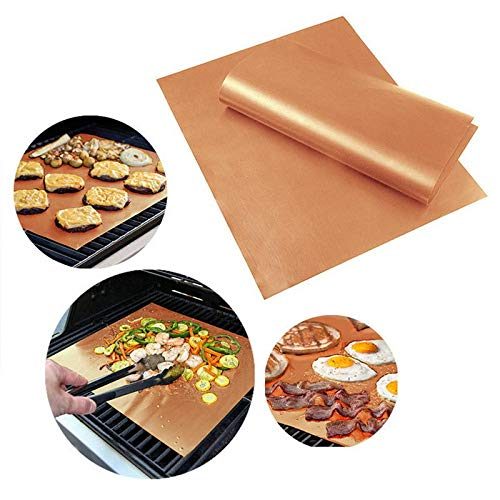 anruo Non-stick barbecue grill and grill mat party PTFE barbecue mat reusable cooking plate barbecue outdoor set