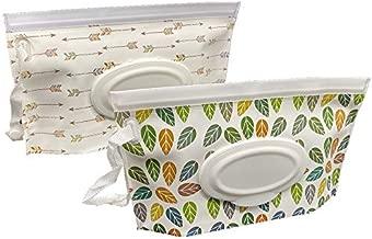 Joyous Journey Portable Wet Wipe Pouch Bags Set, 2 Pcs Wet Wipe Holder, Reusable & Refillable Personal Travel Wipes Dispenser Cases
