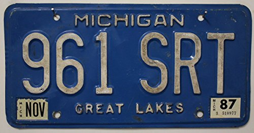 US Nummernschild MICHIGAN Kennzeichen # USA License Plate # Auto - Schild