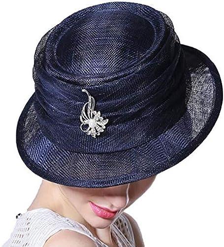 CFHJN-hat Home Der temperamentvolle aristokratische Bankett-Hut-Weißliche Sommer-Reise-Sonnenblende-Hut rein von Hand