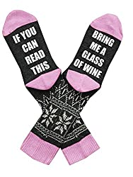 Bring Me A Glass Of Wine Pink Socks