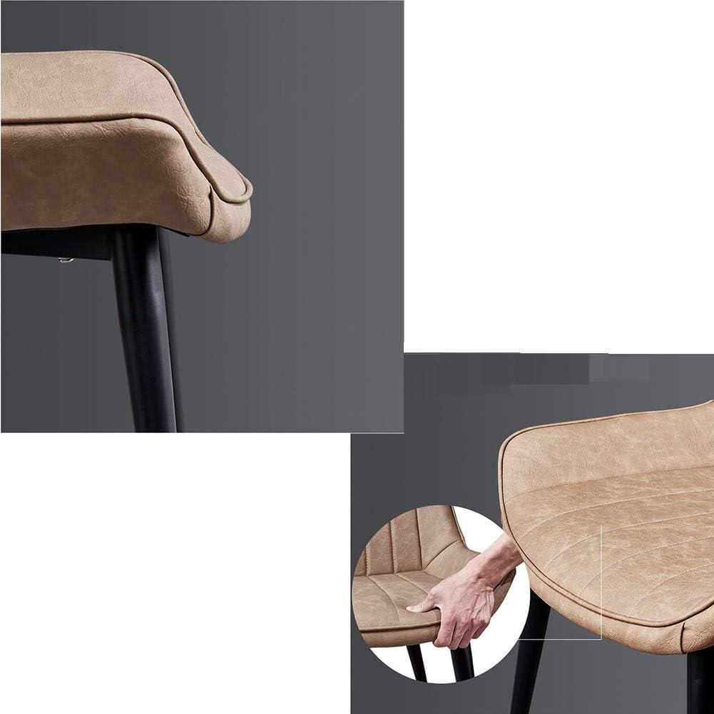 WYYY chaise de Bureau Chaises De Salle À Manger Coussin Doux Jambes en Métal Robustes Cuisine Rétro Meubles De Salon 50x43x84 Cm Durable Fort (Couleur : Beige) Khaki