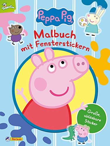Peppa: Malbuch mit Fensterstickern: Kinderbeschäftigung ab 3 (Peppa Pig)