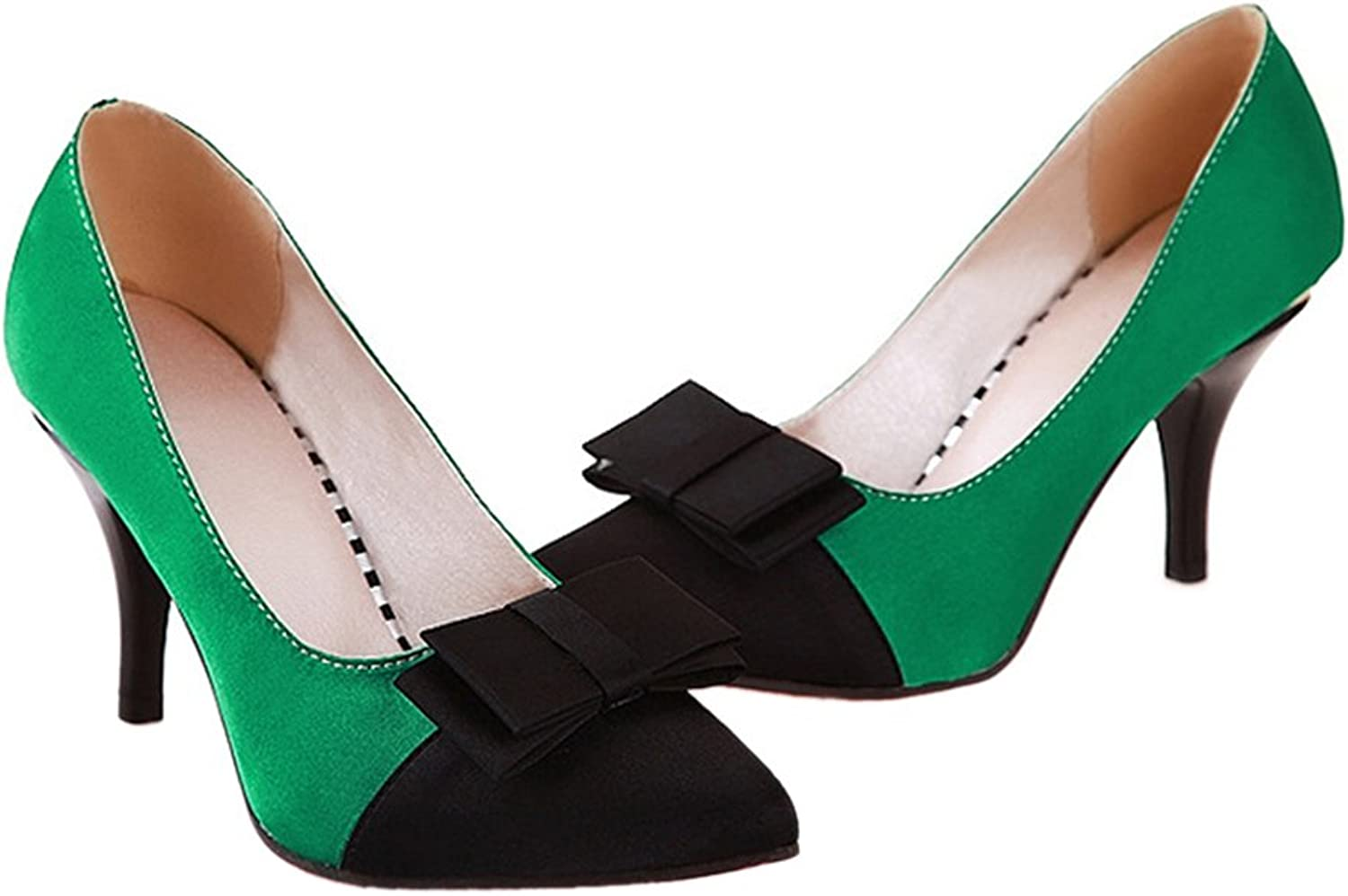 Thin Heel Pointed Chromatic color Sexy Women shoes green 38