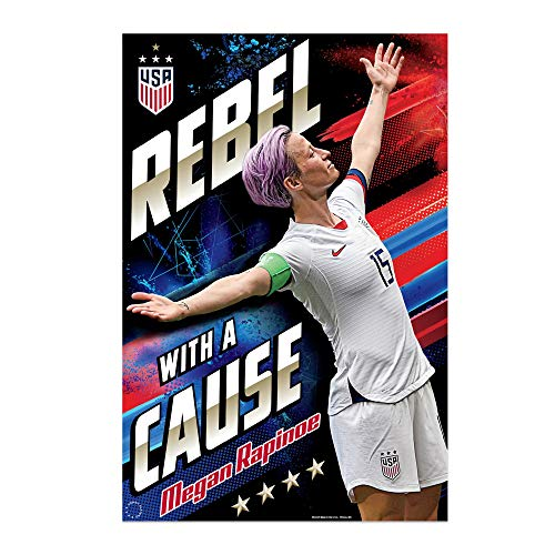 Megan Rapinoe |'Rebel' Celebration Poster | USWNT World Cup 2019