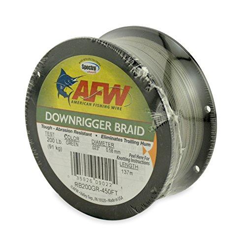 American Angeln Draht Downrigger Braid (Spectra Fasern), grün, 150 Pound Test, 137 Meters