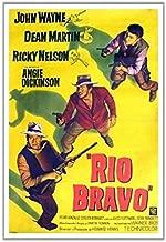 Hotsuff Rio Bravo (1959) Movie Poster John Wayne Dean Martin Western Vintage Style 12