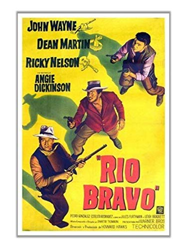 Hotsuff Rio Bravo (1959) Movie Poster John Wayne Dean Martin Western Vintage Style 12'x18'