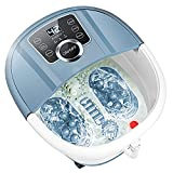 Foot Bath Spa Massager with Heat Bubbles,Pedicure Spa Soaker 16 Motorized Shiatsu Roller Massage Feet, Frequency Conversion, Adjustable Time & Temperature, LED Display Touch-Key