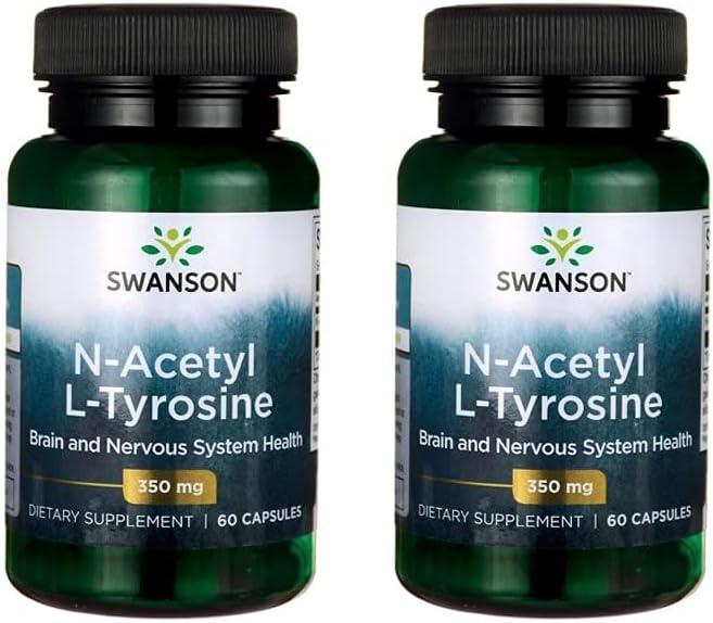 Swanson N-Acetyl L-Tyrosine 350 mg Pack Caps 60 2 Max 68% OFF Phoenix Mall