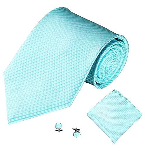 Xmiral Männer Klassische Krawatte Party Taschentuch Krawatte/Einstecktuch/Manschettenknöpfe 3 STÜCKE(J)