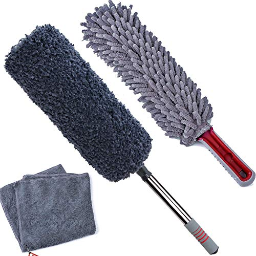 TAKAVU Car Duster Kit, The Best Microfiber Multipurpose Dusters Keep Your Car Dust-Free, Bonus Microfiber Cloth, Exterior and Interior Use