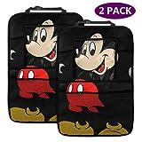 Mickey Mouse - Organizador para asiento trasero de coche, 2 paquetes,...