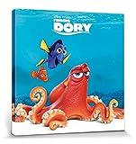 1art1 Findet Dorie - Dory, Nemo & Hank Poster Leinwandbild